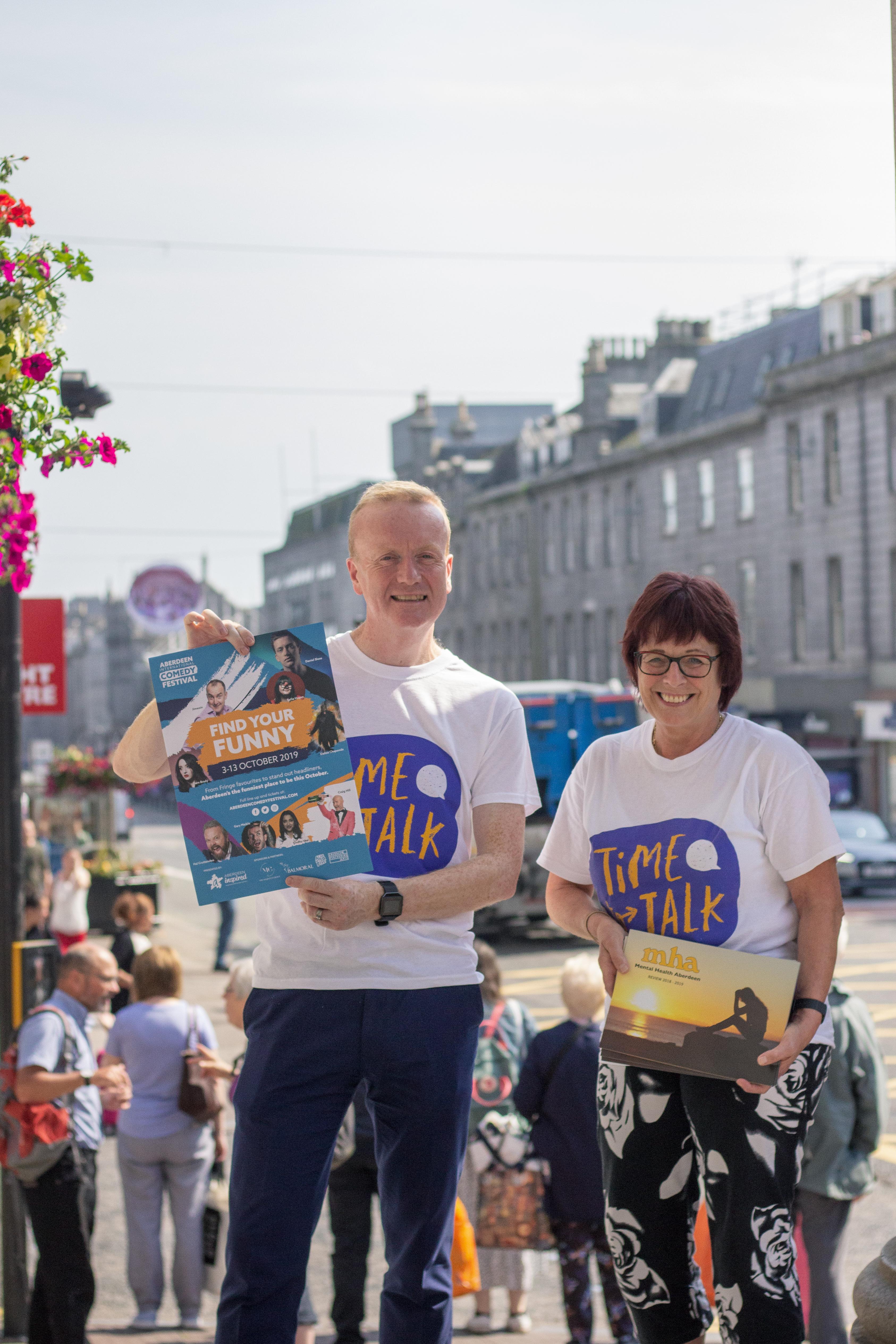 Aberdeen International Comedy Festival teams up with Mental Health Aberdeen