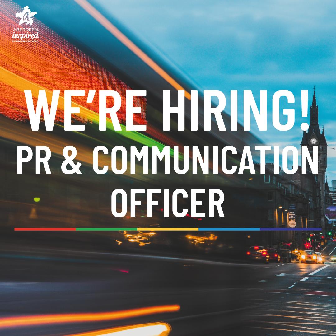 WE'RE HIRING - PR & Communication Officer