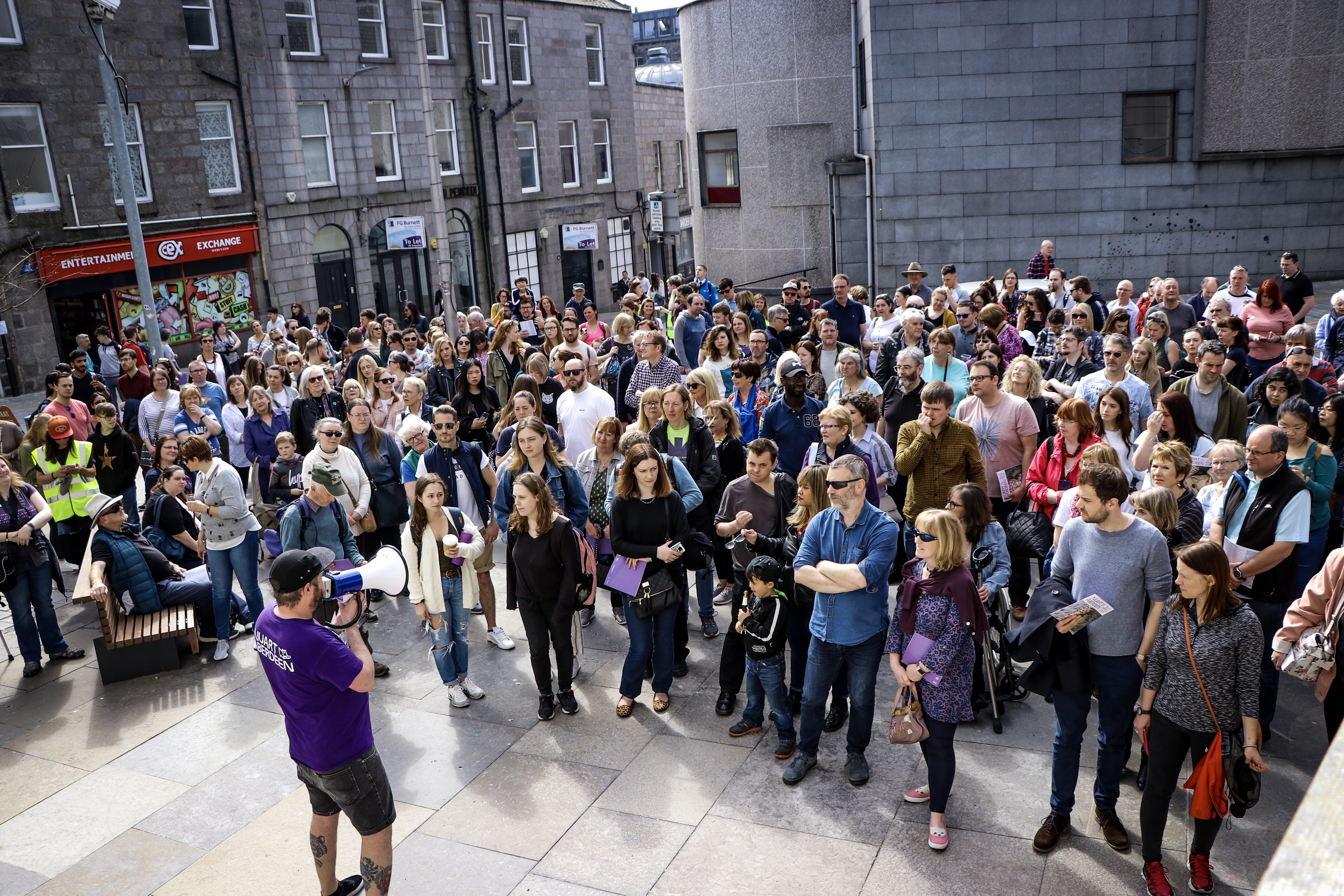 Tens of thousands take to city streets in record year for Nuart Aberdeen