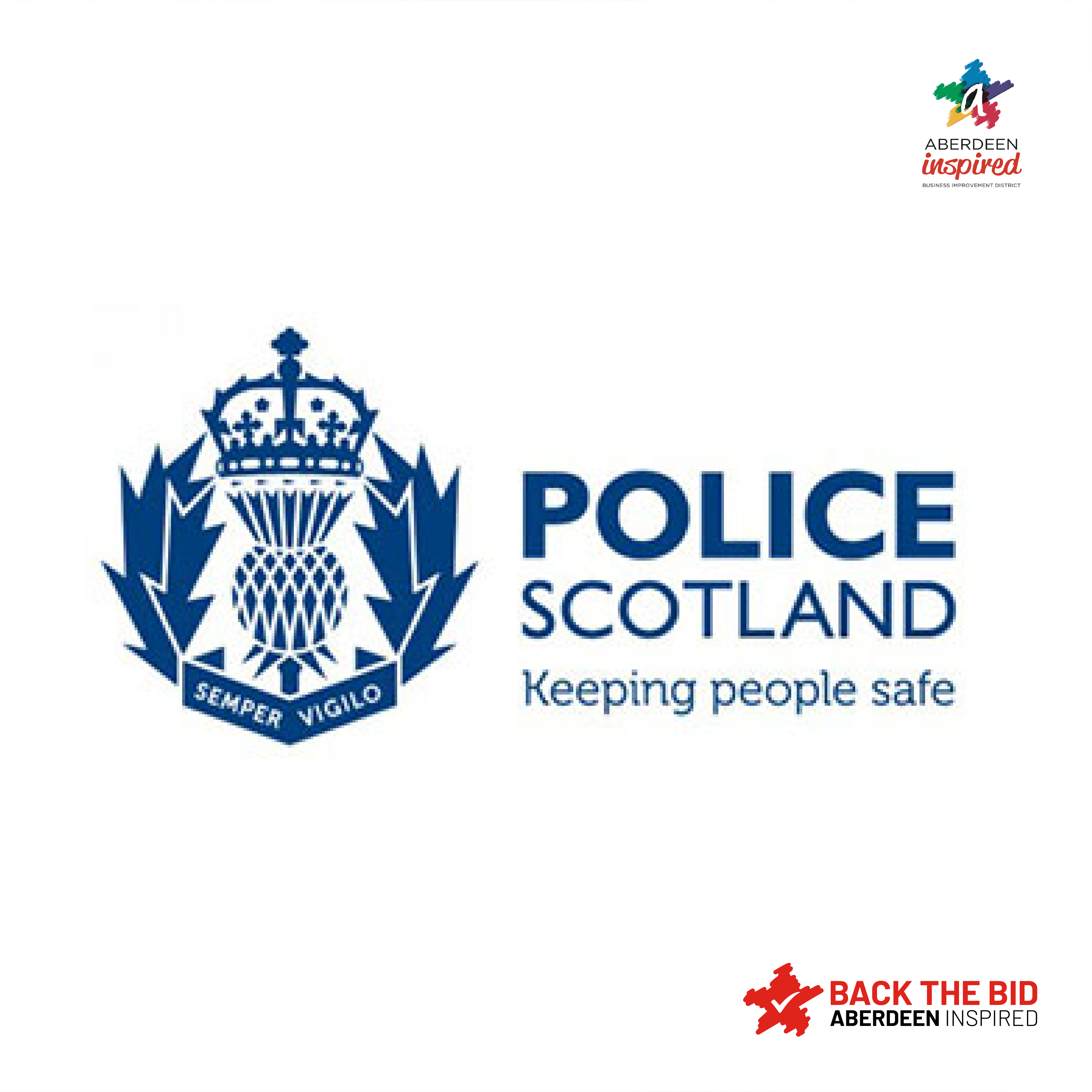 Police Scotland shows appreciation for Aberdeen Inspired's Back The Bid campaign