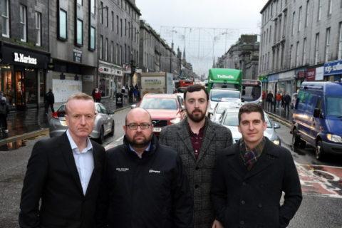 Lobbying on behalf of retailers on part pedestrianisation of Union Street